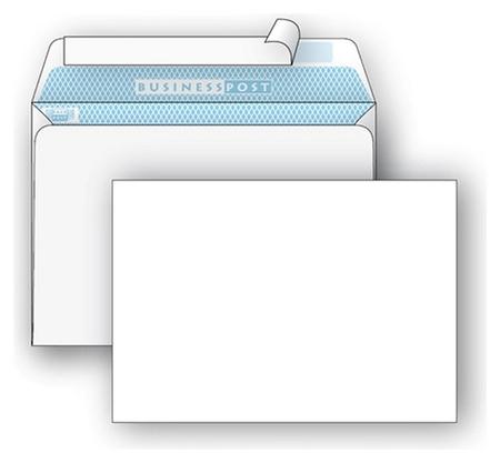 Конверты белый с6стрип Businesspost114х162 1000шт/уп/1376  Packpost
