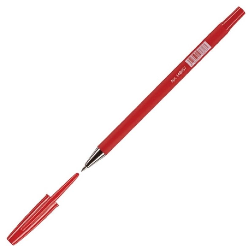 Ручка шариковая Attache Style 0,5мм прорезин.корп.красный ст. Attache