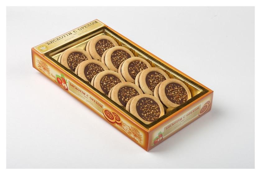 Печенье бискотти с глазированное с орехом 245г Бискотти