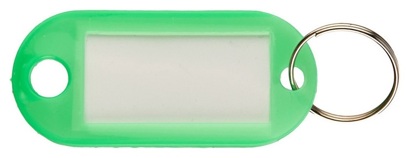 Бирки для ключей 10 шт/уп, зеленая  NNB
