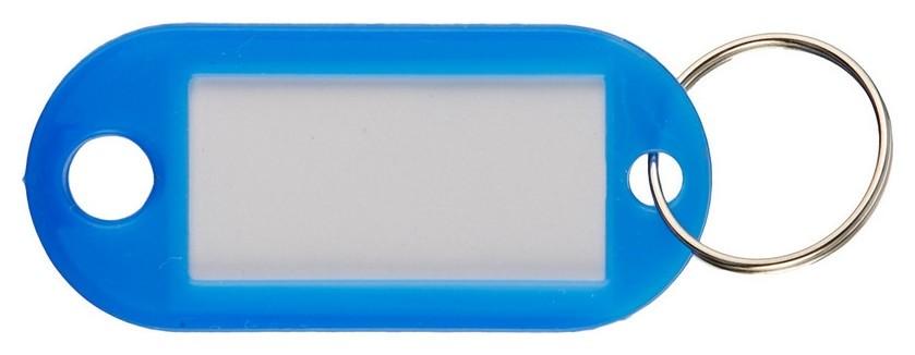 Бирки для ключей 10шт/уп, синяя  NNB