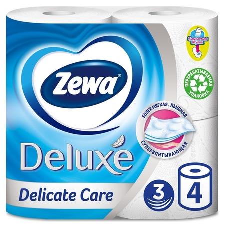 Бумага туалетная Zewa Deluxe 3сл бел 100%цел втул 18,5м 150л 4рул/уп 3228  Zewa