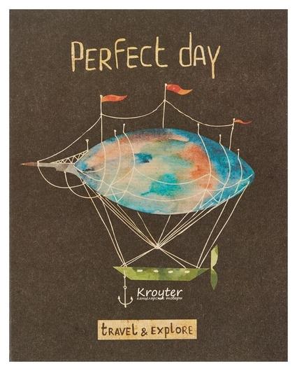 Тетрадь общая Kroyter а5,48л,клетка,скрепка Perfect Day арт.06333  Kroyter