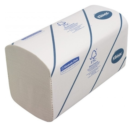 Полотенца бумажные для дисп KK Kleenex Interfold 2сл бел 186 лист 15 пач.6789  Kimberly-clark