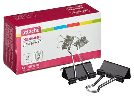 Зажим для бумаг 32мм 12шт/уп Attache, в картонной коробке  Attache
