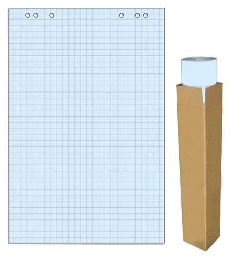 Бумага для флипчартов голубая пастель клетка 68.0х98.0 20 лист.80гр.  Attache