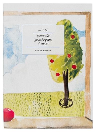 Папка для рисования №1 School А4 20л, бум. акварел. 180 гр/м, мелкое зерно №1 School