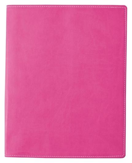 Бизнес-тетрадь Attache клэр А4 96л, клетка, кожзам, розовая Attache
