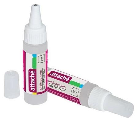 Клей канцелярский Attache 20 мл, синтетический, металлический роллер  Attache