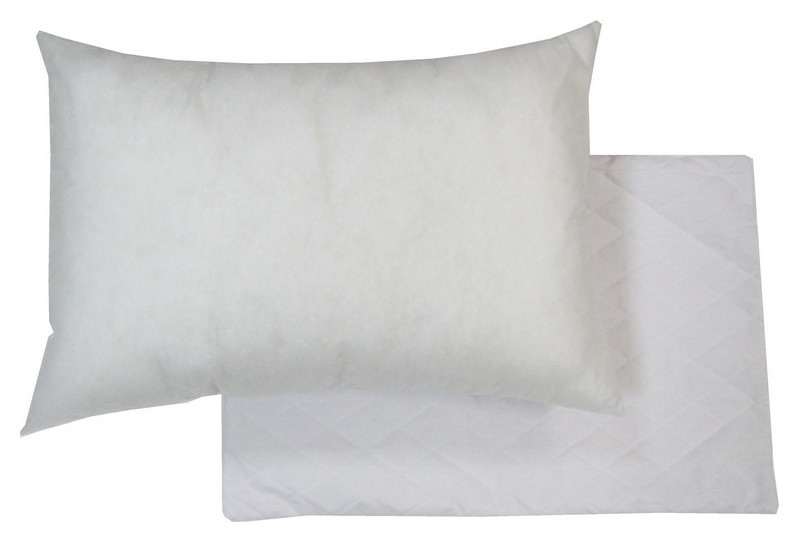 Подушка и наволочка 50х72 стеганая съемная на молнии, биософт, флизелин  NNB