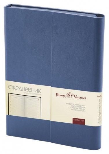 Ежедневник недатированный А5, 176л, с магн. клапаном, Waltz, синий 3-543/01  Bruno Visconti