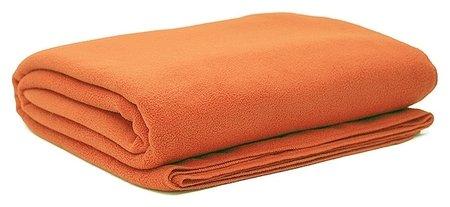 Плед флис 220 гр/м2 130х150, оранжевый  NNB