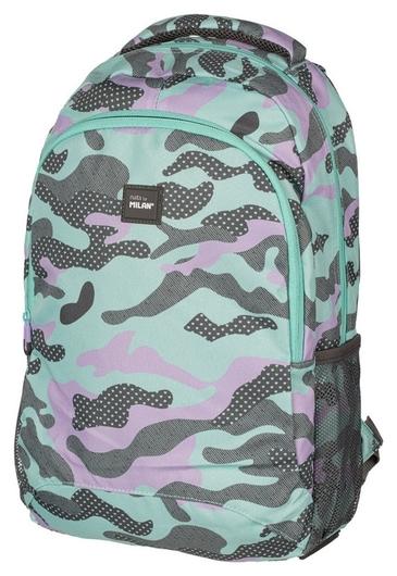 Рюкзак школьный Turquoise Camouflage 45х30х12 см, 624601gm  Milan