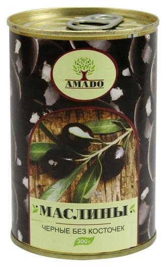Консервация маслины Amado без косточек 300 г ж/б  Amado