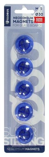 Магнитный держатель неодим.для стекл.досок глобус мн30пс 30мм 5 шт/блистер  Globus