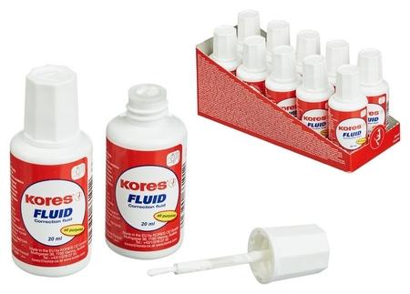Корректирующая жидкость Kores Fluid 20мл на быстросохн осн, кисточка66118  Kores
