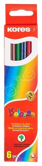 Карандаши цветные 6цв 6-гран Kores 96306.01  Kores