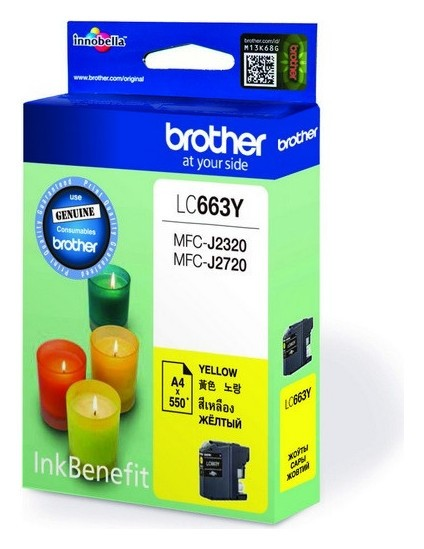 Картридж струйный Brother Lc663y жел. для Mfc-j2320/2720  Brother