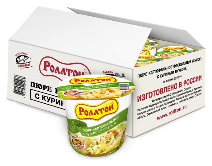 Картофельное пюре роллтон куриное 24штx40г  Роллтон