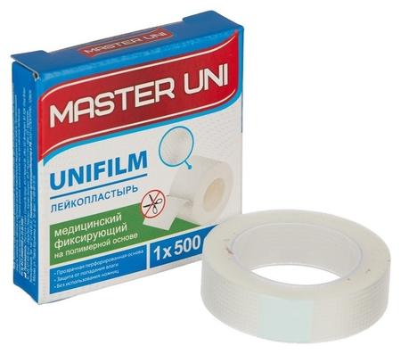 Перевяз. ср-ва лейкопластырь 1х500см полимерный в картоне Master Uni Master Uni