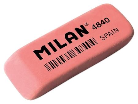 Ластик каучуковый Milan 4840, скошенной формы, розовый  Milan