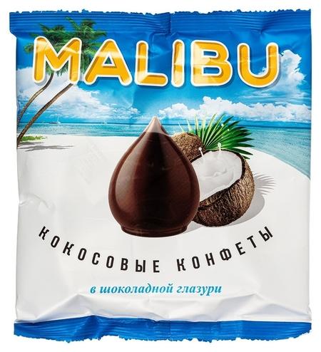 Конфеты Malibu кокосовые в шоколадной глазури, 140г  NNB