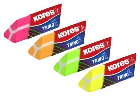 Ластик Kores треугольный неоновый в дисплей-боксе, цвет в асс 40503 Kores