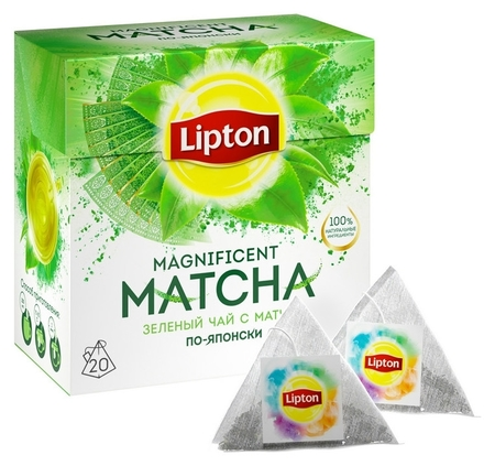 Чай Lipton Magnificent Matcha зел., 20 пак/уп  Lipton