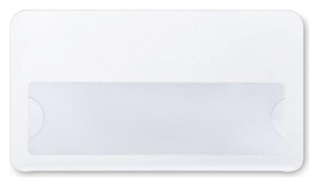Бейдж с окном для сменной информации, булавка, размер70x40 мм с загибушкой NNB