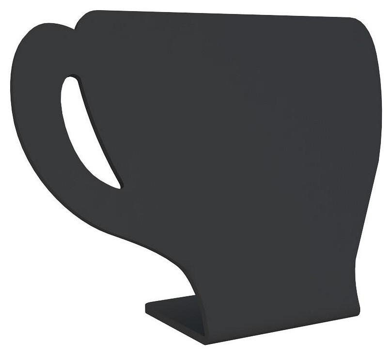 Табличка настольная меловая Attache кружка 115x150мм 5шт/уп  Attache