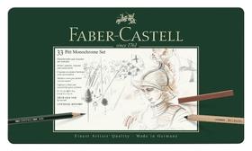 Набор художественных изделий Faber-castell Pitt Monochrome,33 предм, 112977  Faber-castell