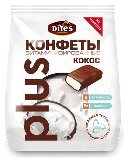 Конфеты Diyes кокосовые витаминизированные на фруктозе, 200г  DiYes