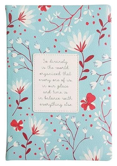 Ежедневник недатированный голубой, А5, 160л., Romantic Az1082/blue  InFolio