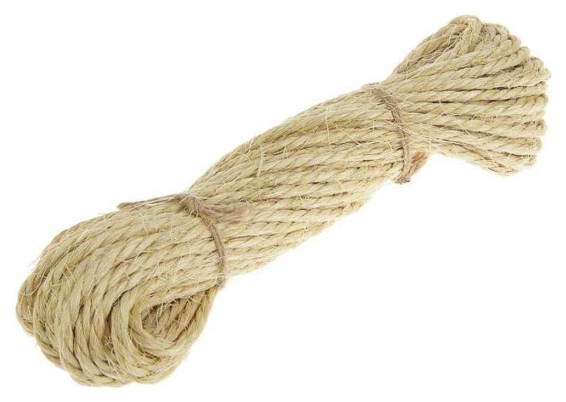 Веревка сизалевая 8мм 30м NNB