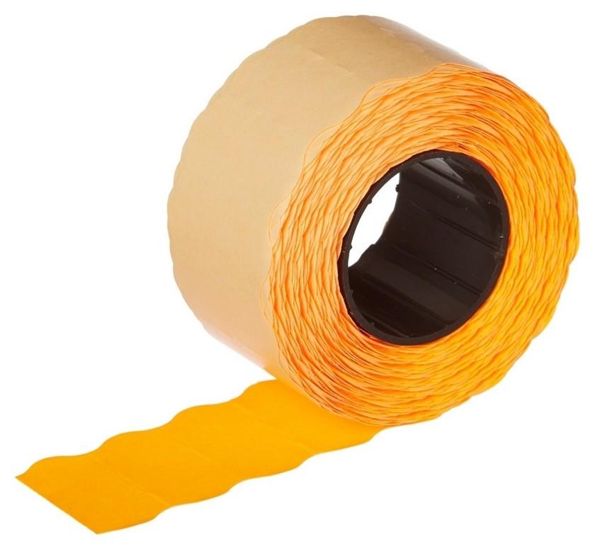 Этикет-лента 26х12 оранж волна 1000шт/рул 10рул/уп  NNB