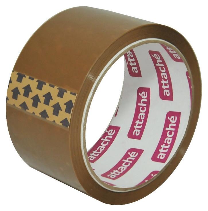 Клейкая лента упаковочная Attache 50мм X 50м 40мкм коричневая  Attache