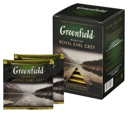 Чай Greenfield Royal Earl Grey черн фольг. пирамидки 20 пак/уп 0900-08  Greenfield