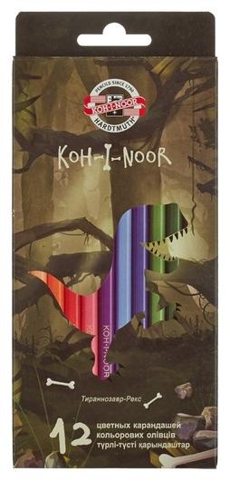 Карандаши цветные 12цв 6-гран Koh-i-noor Dino 3592  Koh-i-noor