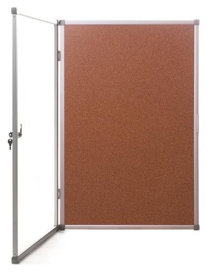 Витрина доска-витрина пробковая 90х120 см (Алюминиевая рама)  Attache