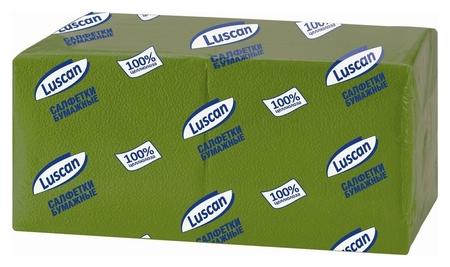 Салфетки бумажные Luscan Profi Pack 1сл24х24зеленые 400шт/уп  Luscan