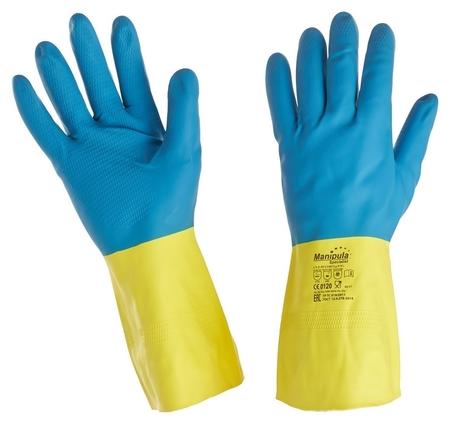 Перчатки защитные латекс/неопрен Manipula союз (Ln-f-05) р-р 9-9,5  Manipula