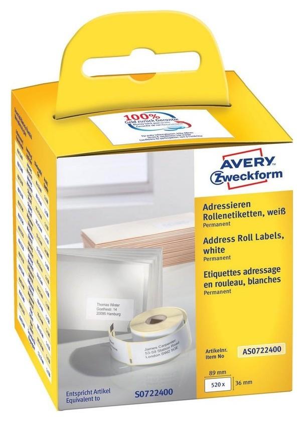 Этикет-лента Avery Zweckform As0722400 89x36мм для Dymo 2шт/уп  Avery Zweckform