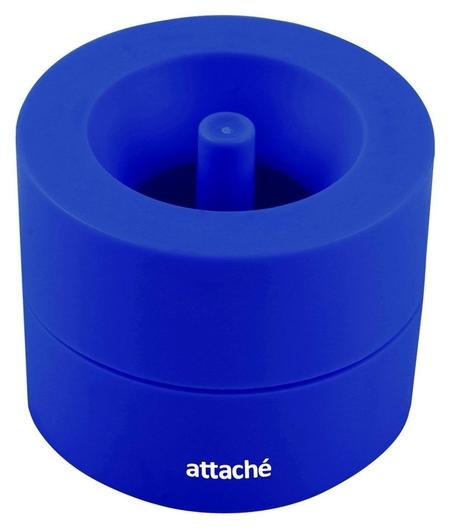 Скрепочница магнитная Attache, груглая, цвет синий  Attache