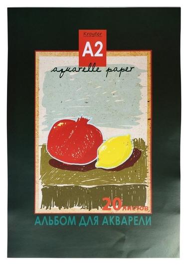 Альбом для акварели Kroyter 20л а2,склейка,тверд.подл.,180гр.натюрморт05183  Kroyter