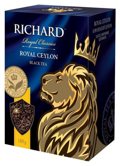 Чай Richard Royal Ceylon черный листовой, 180г 14004  Richard