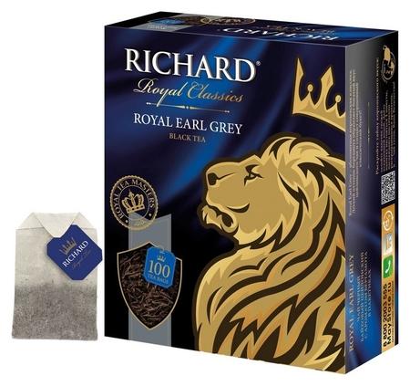 Чай Richard Royal Earl Grey черный, 100 пак 13944  Richard