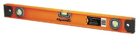 Уровень алюминиевый рельс Sparta, 400 мм, 3 глазка (34044)  Sparta