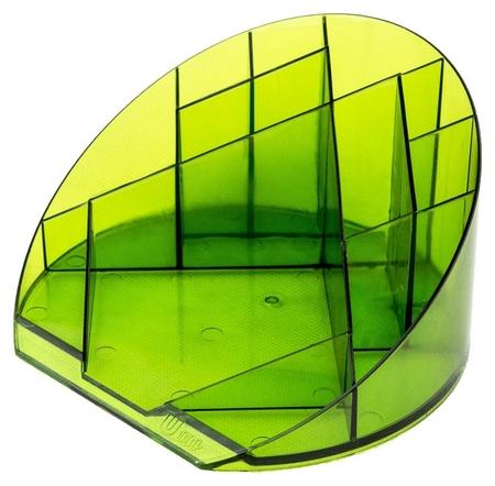 Подставка Attache яркий офис 12 отделений прозрачный лайм  Attache