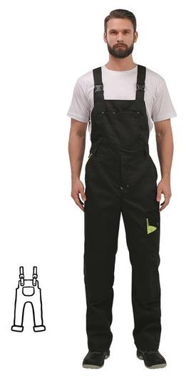 Спец.одежда летняя полукомбинезон муж. л27-пк т.сер/черн (Р.44-46) 182-188 NNB