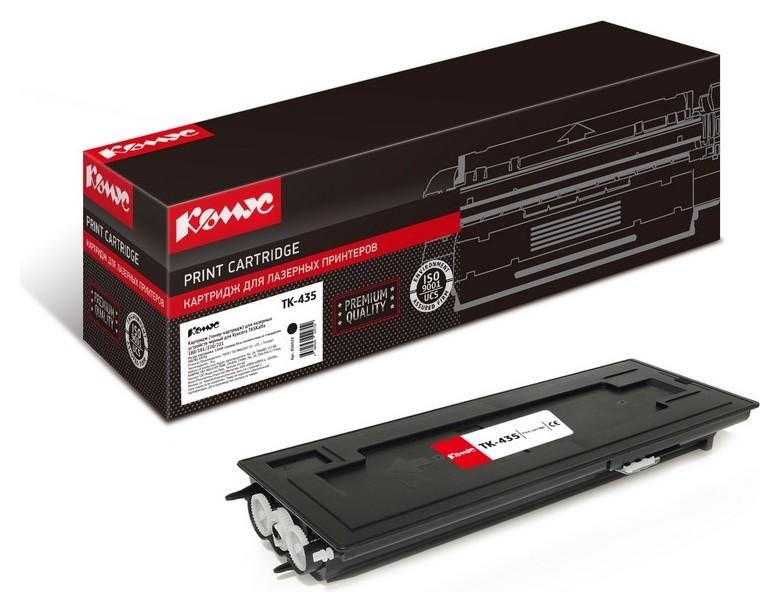 Картридж лазерный комус Tk-435 чер. для Kyocera Taskalfa 180/181  Комус